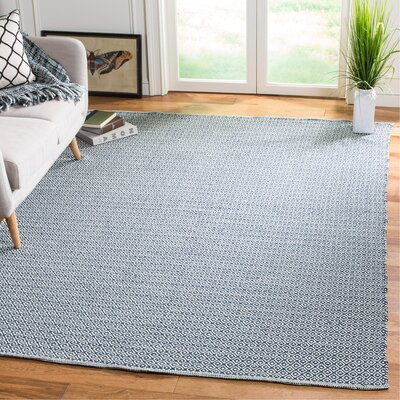 Orwell Hand-Woven Cotton Ivory/Gray Area Rug Rug Size: Rectangle 6 x 9