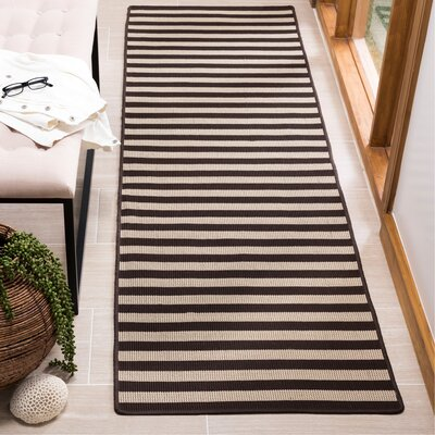 Verde Ivory/Brown Indoor/Outdoor Area Rug Rug Size: Runner 23 x 8