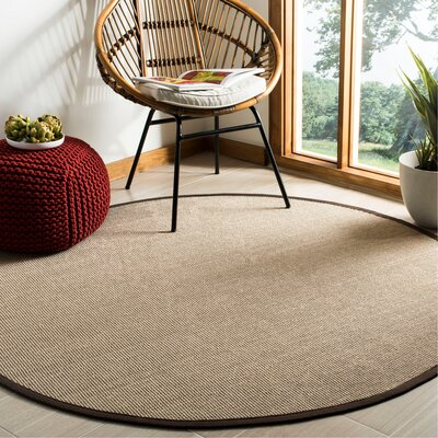 Ruthwell Sage/Brown Area Rug Rug Size: Round 6