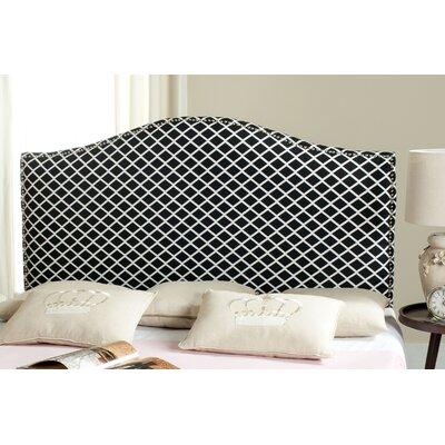 Little Deer Isle Upholstered Panel Headboard Size: Full, Upholstery: Black/White