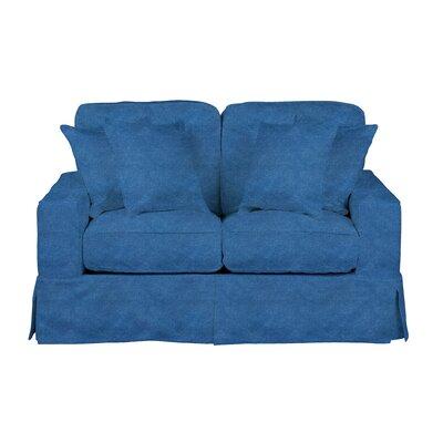 Oxalis Slipcovered Loveseat Upholstery: Indigo Blue