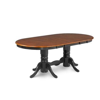 Varela Oval Dining Table Color: Cherry