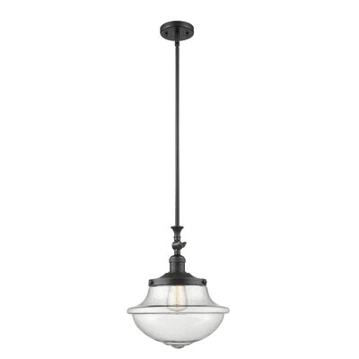 Draeger 1-Light Schoolhouse Pendant Finish: Matte Black