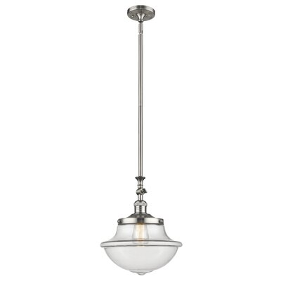 Draeger 1-Light Schoolhouse Pendant Finish: Brushed Satin Nickel
