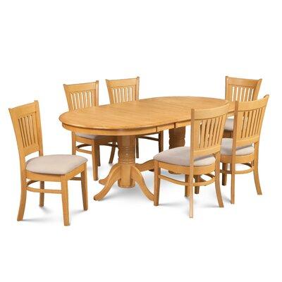 Crigler 7 Piece Extendable Dining Set Color: Oak