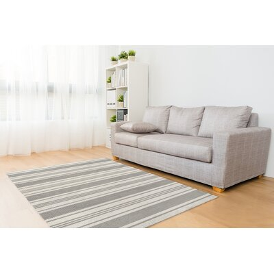 Fitzgerald Gray/White Area Rug Size: Rectangle 5 x 7