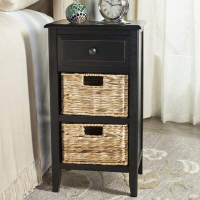 Small Point End Table Color: Distressed Black