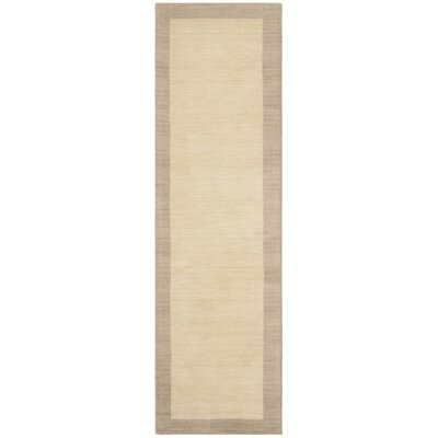 Archer Hand-Woven Wool Ivory/Beige Area Rug Rug Size: Runner 23 x 8