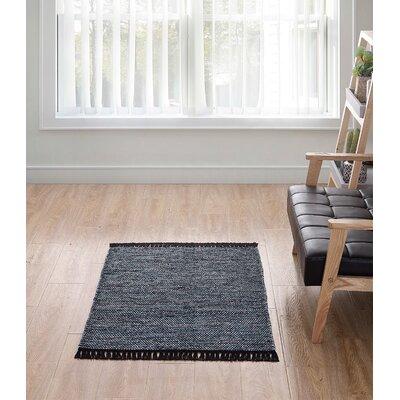 Fedler Solid Scatter Blue Area Rug Rug Size: Rectangle 30 x 46
