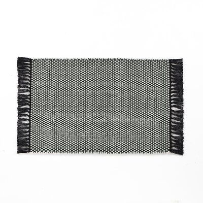 Feeley Solid Scatter Charcoal Area Rug Rug Size: Rectangle 20 x 30