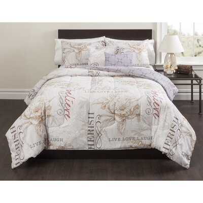 Magnolia 5 Piece Comforter Set Size: Full