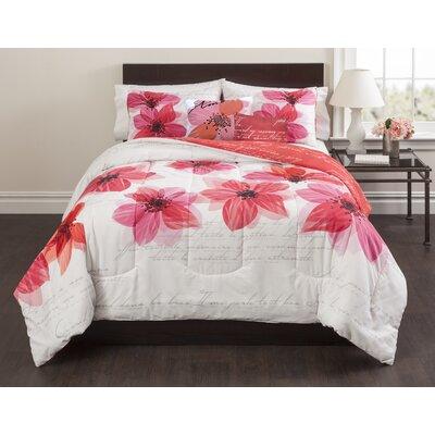 La Fleur 5 Piece Comforter Set Size: King
