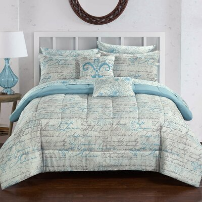 Parisienne 9 Piece Reversible Comforter Set Size: King