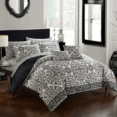 Byron 9 Piece Reversible Comforter Set Size: King