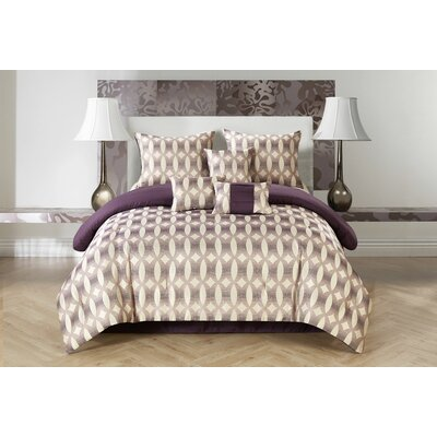 Bentham 7 Piece Reversible Comforter Set Size: Queen