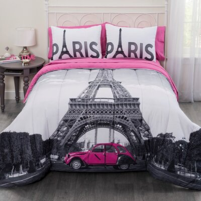 Paris Eiffel Tower Bed in a Bag Set Size: Full