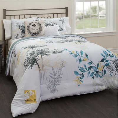 Lyon 5 Piece Reversible Comforter Set Size: Queen