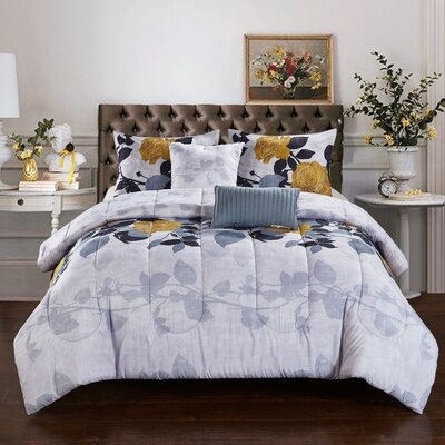 Corsica 5 Piece Reversible Comforter Set Size: King