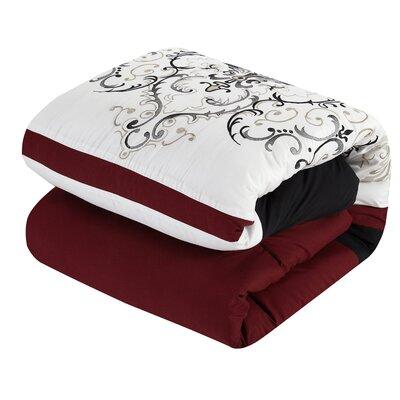 Havana Jacquard 7 Piece Comforter Set Size: Queen
