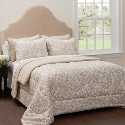 Jasmine 6 Piece Reversible Comforter and Quilt Set Size: King