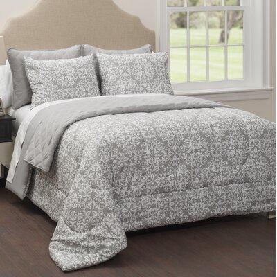 Waveland 6 Piece Reversible Comforter Set Size: King