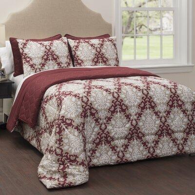 Regency 6 Piece Reversible Comforter Set Size: King