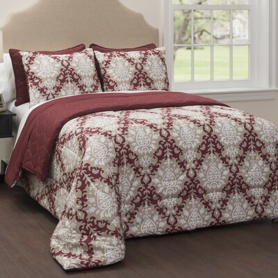 Regency 6 Piece Reversible Comforter Set Size: Queen