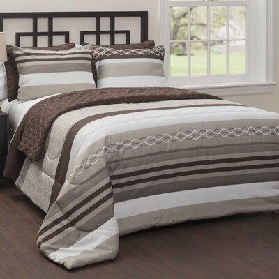 Malaga 6 Piece Reversible Comforter Set Size: King