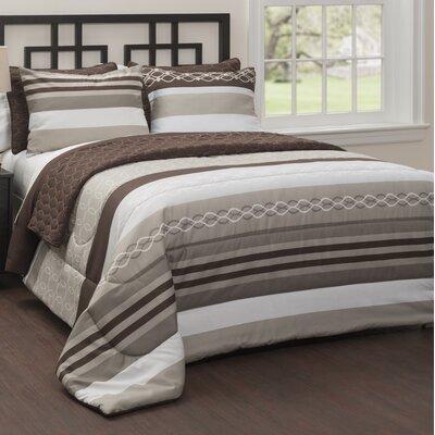 Malaga 6 Piece Reversible Comforter Set Size: Queen