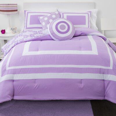 Medallion Reversible Comforter Set Size: Queen