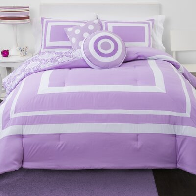 Medallion Reversible Comforter Set Size: Twin