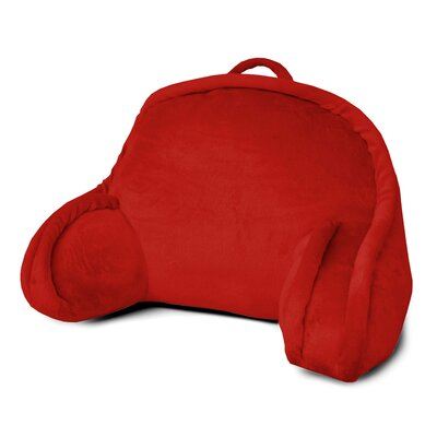 Kid's Mini Polyester Bed Rest Pillow Color: Red