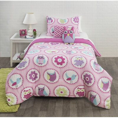Birds and Flowers Comforter Set Size: Twin