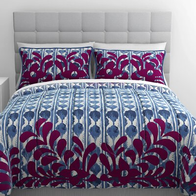 Shanti 3 Piece Duvet Cover Set Size: Queen