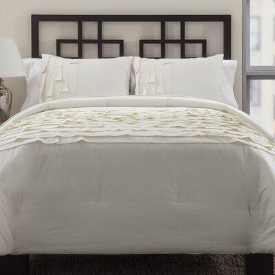 3 Piece Reversible Comforter Set Size: Full/Queen