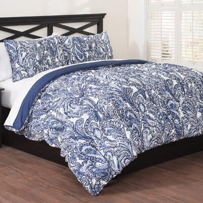 3 Piece Reversible Duvet Set Size: Full/Queen
