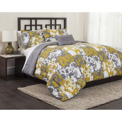 Marigold Patchwork 5 Piece Comforter Set Size: Full