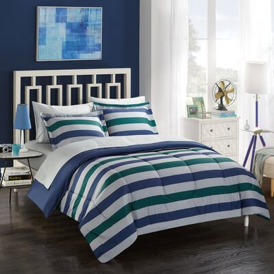 Stanton Stripe 5 Piece Reversible Bed in a Bag Set