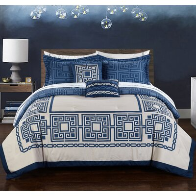 Athena 9 Piece Reversible Comforter Set Size: King