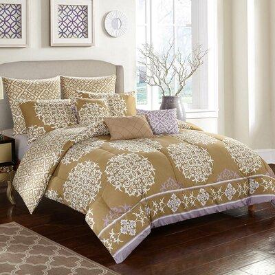 Maya Rose 8 Piece Reversible Comforter Set Size: Full