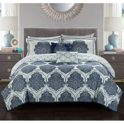 Kaitlyn 8 Piece Reversible Comforter Set Size: Queen