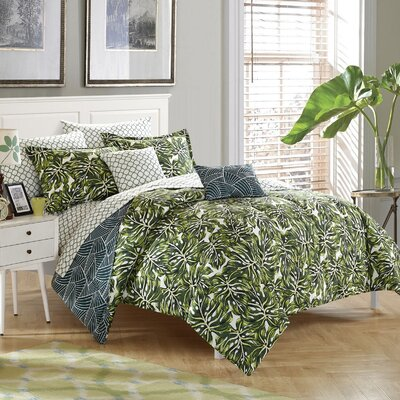 Palm Springs 8 Piece Reversible Comforter Set Size: Queen