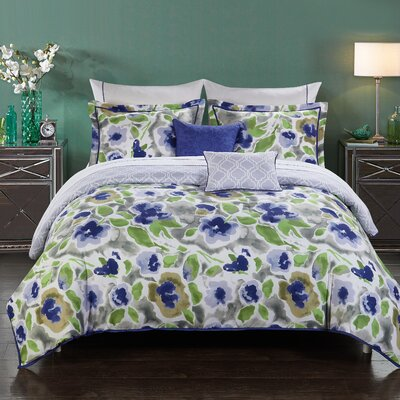 Magnolia 9 Piece Reversible Comforter Set Size: Full