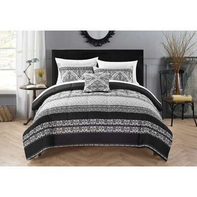 Clifton Hill 5 Piece Reversible Quilt Set Size: Queen