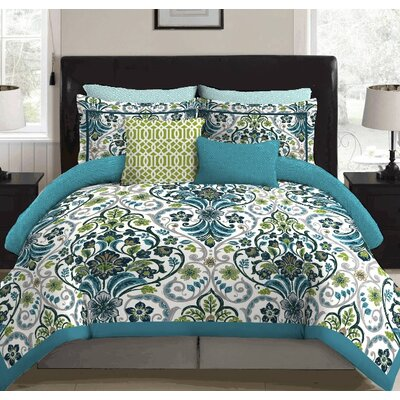 Willa 9 Piece Reversible Bed-In-A-Bag Set Size: Full