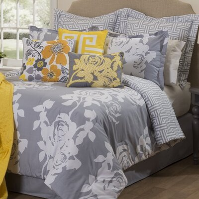 South Beach 10 Piece Reversible Comforter Set Size: King