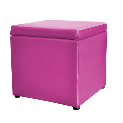 Square Storage Ottoman Upholstery: Pink