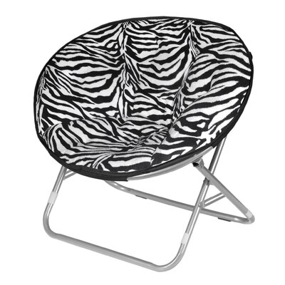 Zebra Faux Fur Papasan Chair