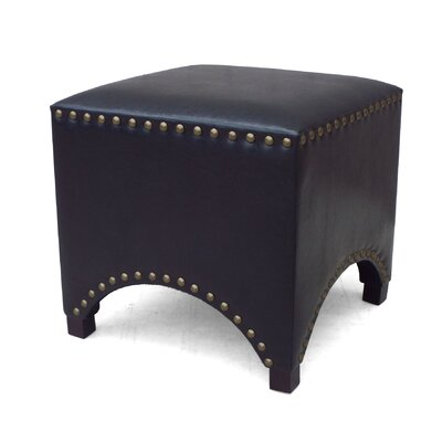 Arched Nailhead Ottoman Color: Black