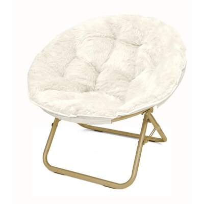 Micromink Papasan Chair Upholstery: White